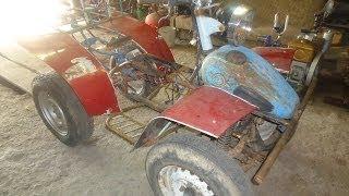 Самодельный квадроцикл,примерка нового двигателя.(Плейлист по переделки http://www.youtube.com/playlist?list=PLwzUD1GR74yctLf4Q0KOzLcmbeaiKMTIEМой блог на Драйв ..., 2014-06-23T17:21:15.000Z)