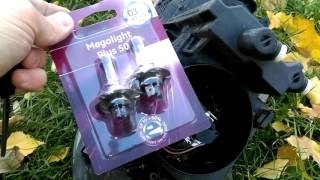 Замена ламп H7 12 V 55 W ближнего света фар на Skoda Octavia A5
