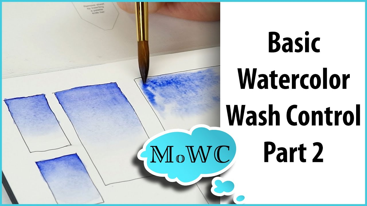 Basic watercolor techniques 2 graduated washes youtube for Different watercolor techniques