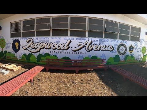 Garden School Foundation and LA Galaxy team to support a local Elementary School