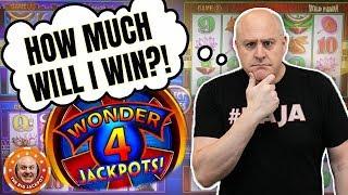💥$10 A SPIN! 💥I WONDER HOW MUCH I'LL WIN?! 🎰Wonder 4 Jackpots Slot Play!