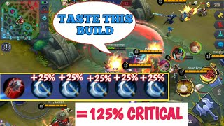 BALMOND DANGEROUS BUILD | 125% CRITICAL | ALL CRITICAL | MOBILE LEGENDS