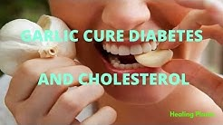 GARLIC CURE DIABETES AND CHOLESTEROL - REDUCE FAT AND LEVELS BLOOD GLUCOSE