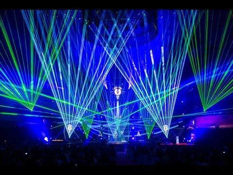 Lasershow zum Auftritt von