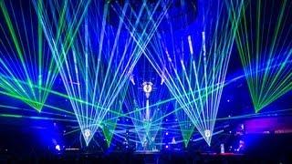 """Lasershow zum Auftritt von """"VNV NATION"""" beim LEA Award 2013 mit tarm Showlaser"""