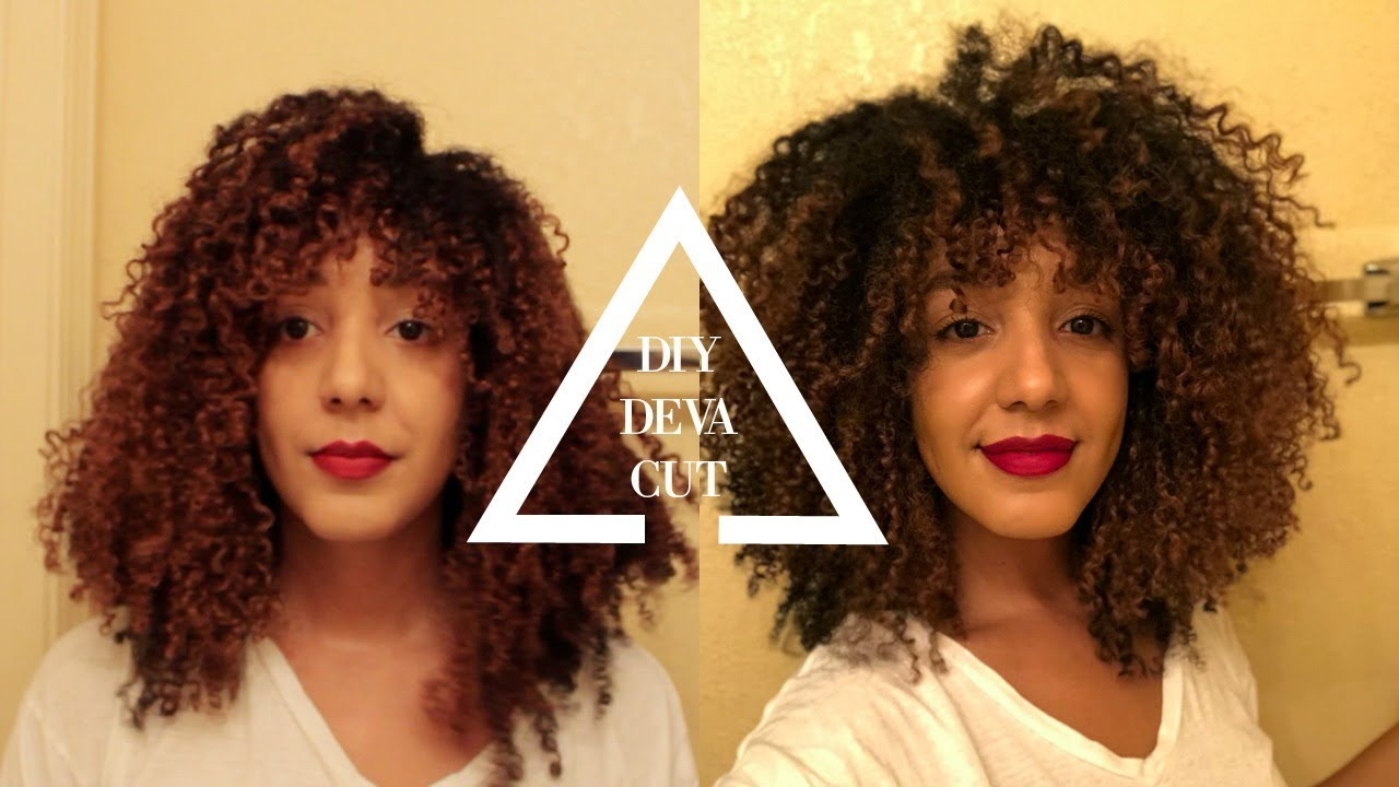 DIY DEVA CUT  Cutting My Natural Curly Hair Dry!