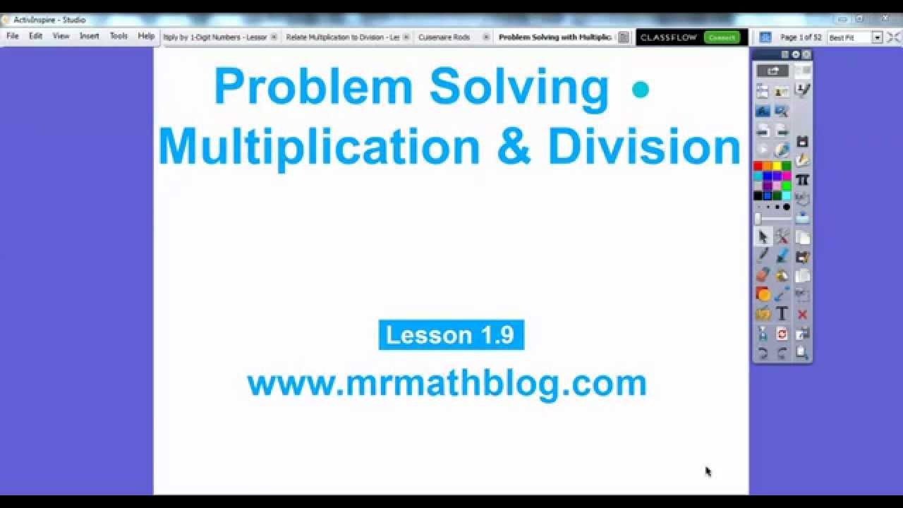 Problem solving lesson