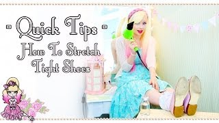 How To Stretch Tight Leather Shoes  - Quick Tips - Violet LeBeaux
