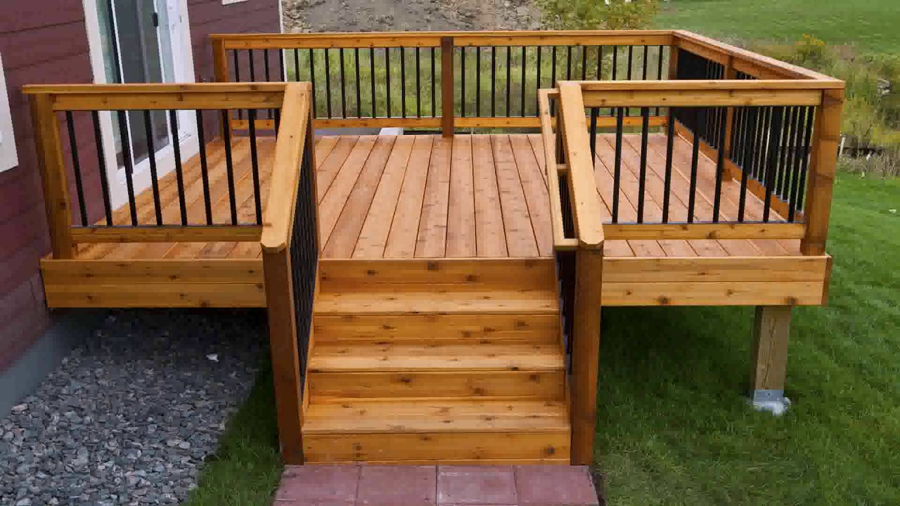 Inexpensive Deck Railing Ideas - YouTube