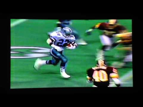 1991 Washington@Dallas Emmitt Smith 75yd TD run