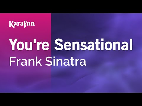 Karaoke You're Sensational - Frank Sinatra *