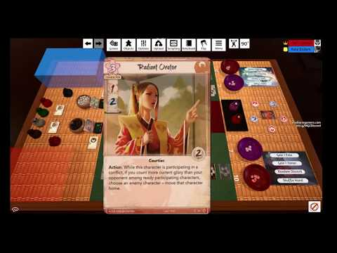 Mediocre Gamers play L5R - Phoenix vs Scorpion