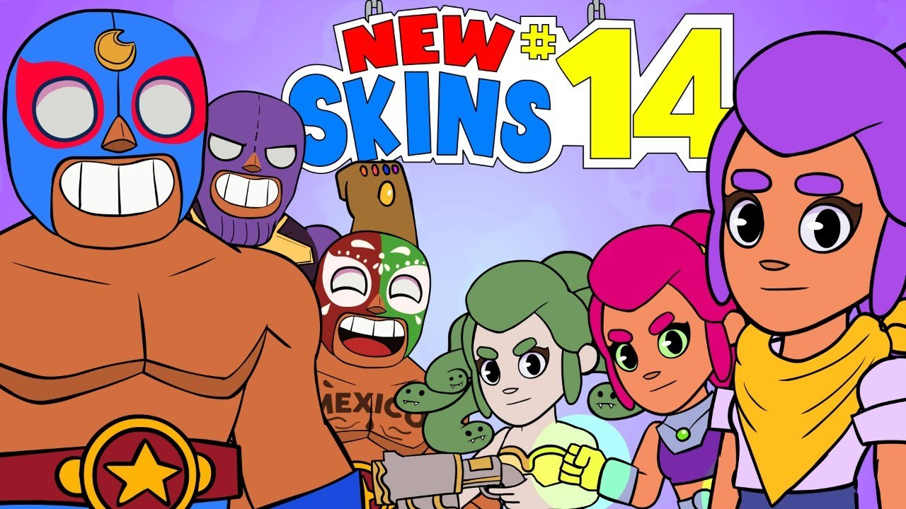 ⭐️ PRIMO & SHELLY NEW SKINS IDEAS - BRAWL STARS ANIMATION #14