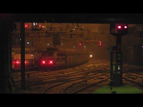De Paris à Caen en cabine d'une BB 26000 de nuit sous la neige