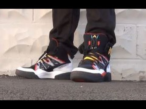 Nueva Zelanda fuga Flexible  Adidas Originals Mutombo Retro Shoes On Feet Review With The Sneaker Addict  DJ Delz - YouTube