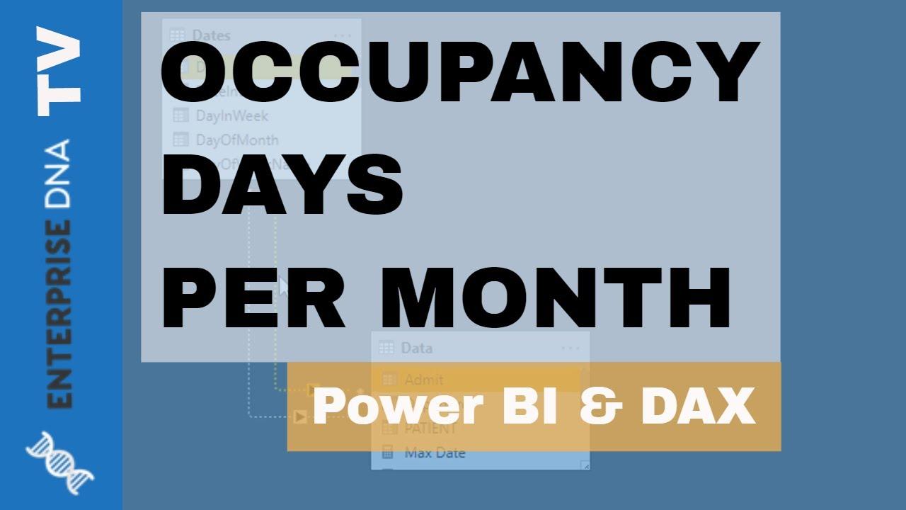 Calculate The Occupancy Days Per Month In Power BI Using DAX