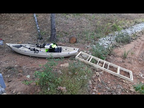 DIY Kayak Roller Launch Ramp and Load Ramp