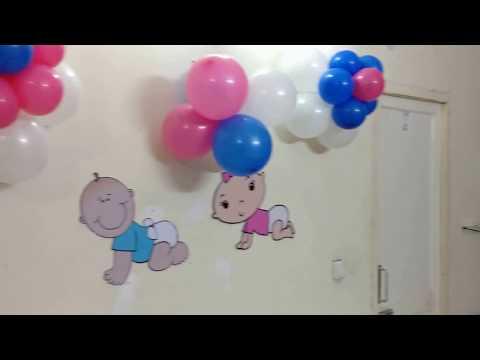 Decoration for Welcoming Newborn Twins   Palam Vihar   Delhi Cantt.