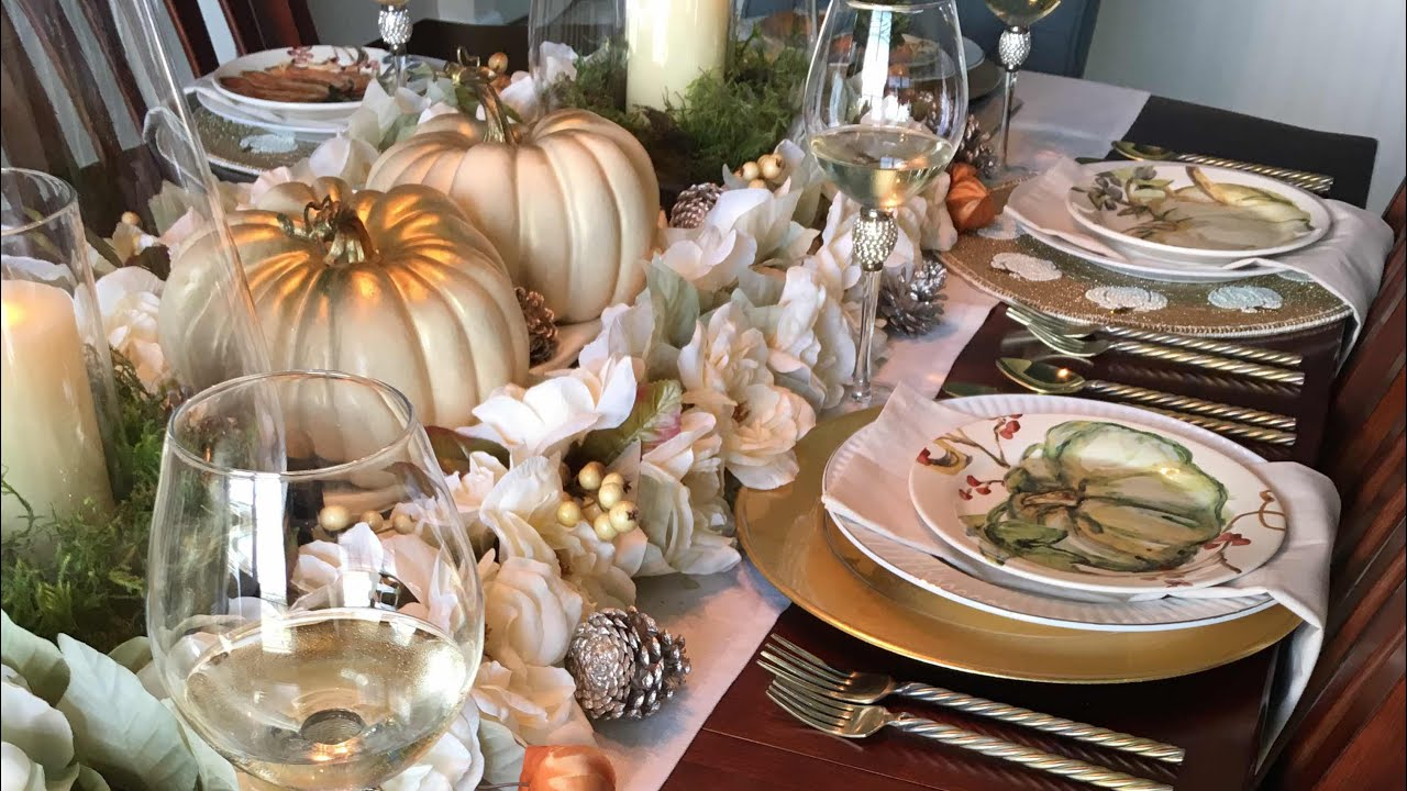 diy fall tablescape 2017 fall home tour part 3 youtube