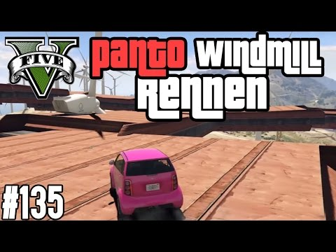 PANTO WINDMILL RENNEN & SKY HIGH ACTION   !   GTA V - CUSTOM MAP RENNEN