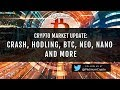 Crypto Update – Crash, Hodling, BTC, XRP, ICON and more