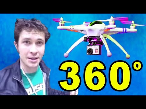 360 VIDEO: Watch This On Your Phone & SPIN AROUND (Flying Drone @Vidcon)