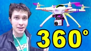360 VIDEO: Watch This On Your Phone & SPIN AROUND (Flying Drone @Vidcon)(NOTE: You have to watch this from inside the YouTube app for it to work! Watch this 360 Video on your phone and freakin' spin around!! (Thanks to the Drone ..., 2015-07-27T19:21:02.000Z)