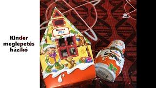 Kinder Meglepetés Házikó és Télapó kicsomi/surprise toys unboxing