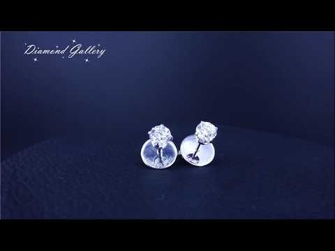 Пусеты с бриллиантами по 0,50 карат поз заказ от Diamond Gallery!