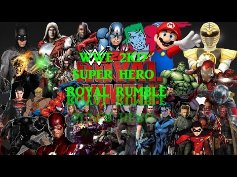 WWE Royal Rumble 2017 Superheroes Royal Rumble Match WWE 2K17