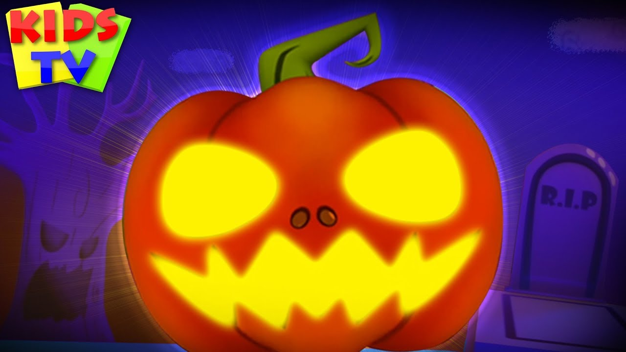 Scary Pumpkin | Little Eddie Cartoons | Halloween Songs for Children