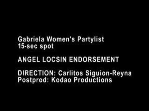 Gabriela Women's Party endorsed by Angel Locsin