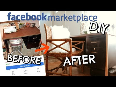 Facebook Marketplace Finds! DIY Metal Desk + Wicker Chair Score!