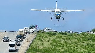 LANDING at ST. BARTH with COCKPIT view - The CRAZIEST AIRPORT in the caribean (4K)