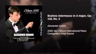 Brahms Intermezzo in A major, Op. 118, No. 2