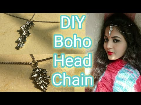 Metal pendant head chain | DIY