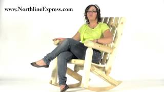 Rustic Naturals High Back Rocking Chair April Special