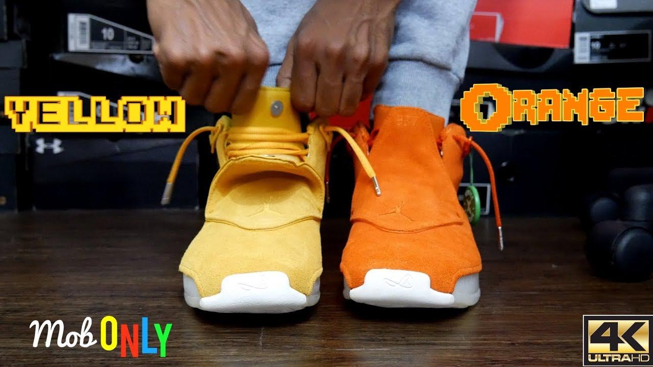Yellow \u0026 Orange Air JORDAN