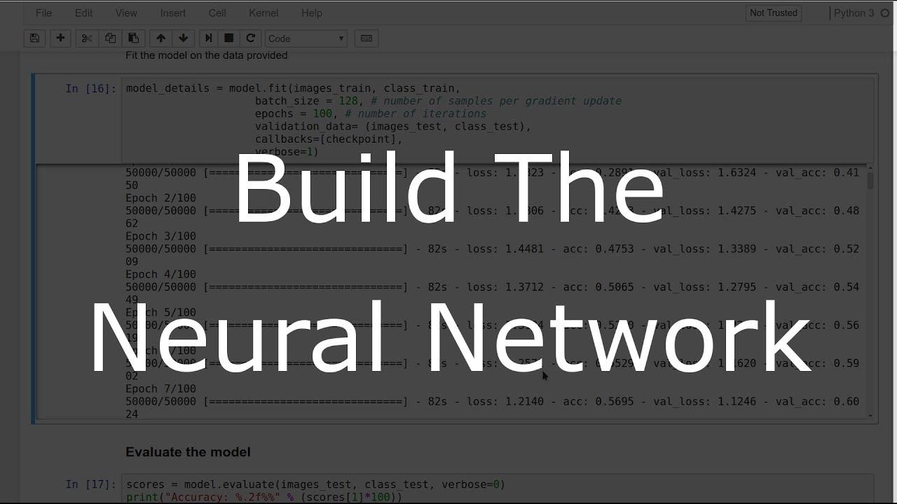 Deep Learning with Keras - Building the CNN for CIFAR-10 (2/3)