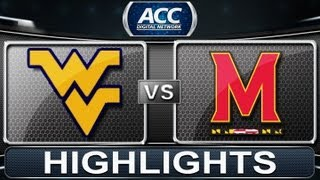 2013 ACC Football Highlights | West Virginia vs Maryland | ACCDigitalNetwork
