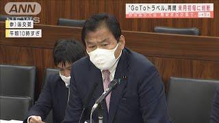 GoToトラベル再開は年明け初めに判断 赤羽国交大臣(2020年12月24日) - YouTube