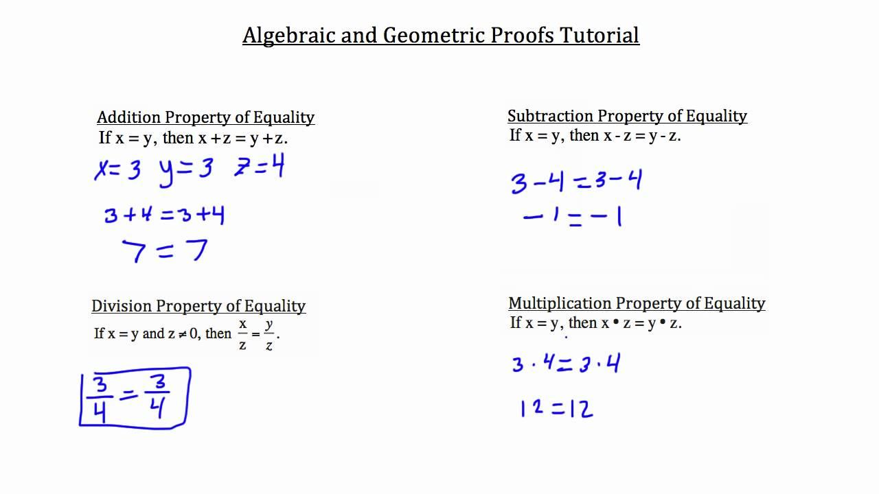 Algebraic And Geometric Proofs
