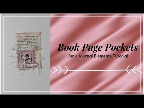 DIY Book Page Pockets for Junk Journals