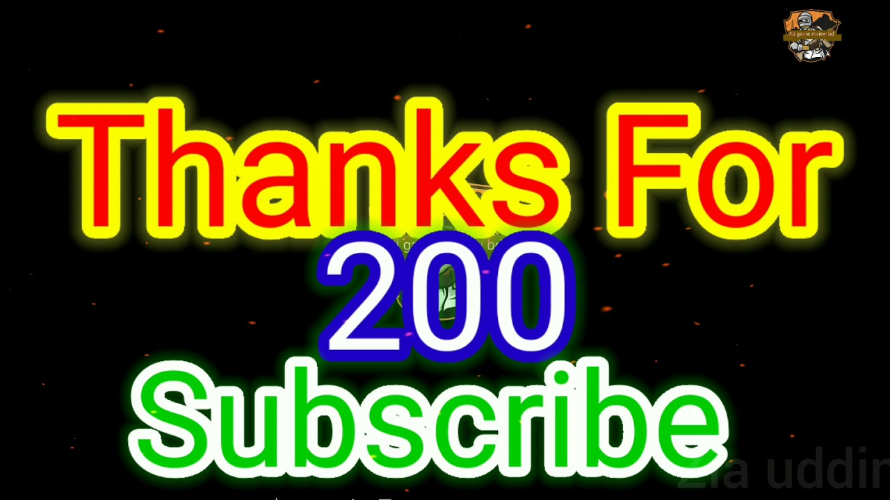 Thanks for 200 subscribe ❤❤love all