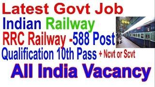 Apply Online | latest Railway govt Job for 10th Pass 2017 Video