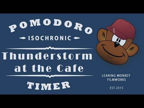 BOOST PRODUCTIVITY: ISOCHRONIC POMODORO TIMER - THUNDERSTORM AT THE CAFE