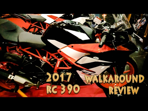 2017 RC 390 Walkaround review,Stock exhaust note,New upgrades