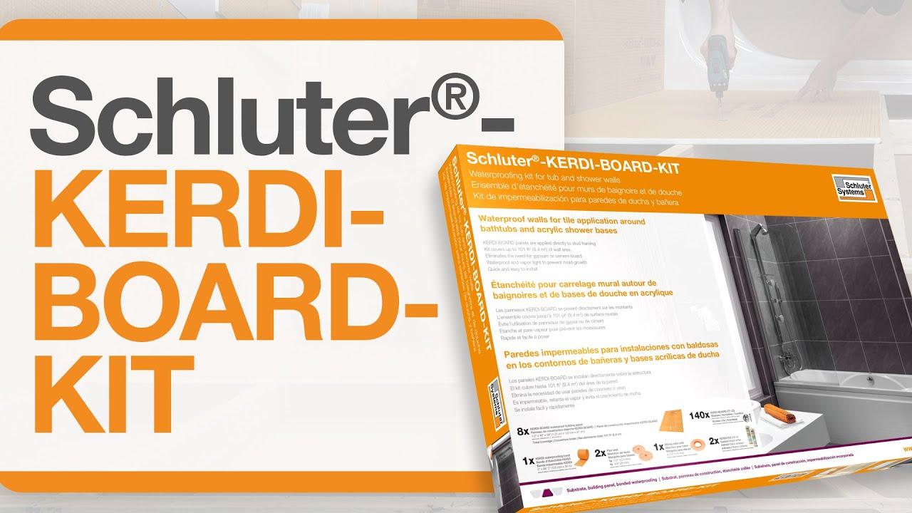 Poser Une Baignoire Avec Rebord comment installer l'ensemble schluter®-kerdi-board-kit