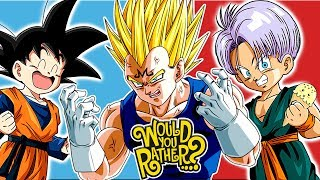 Vegeta Trunks And Goten Play Would You Rather?