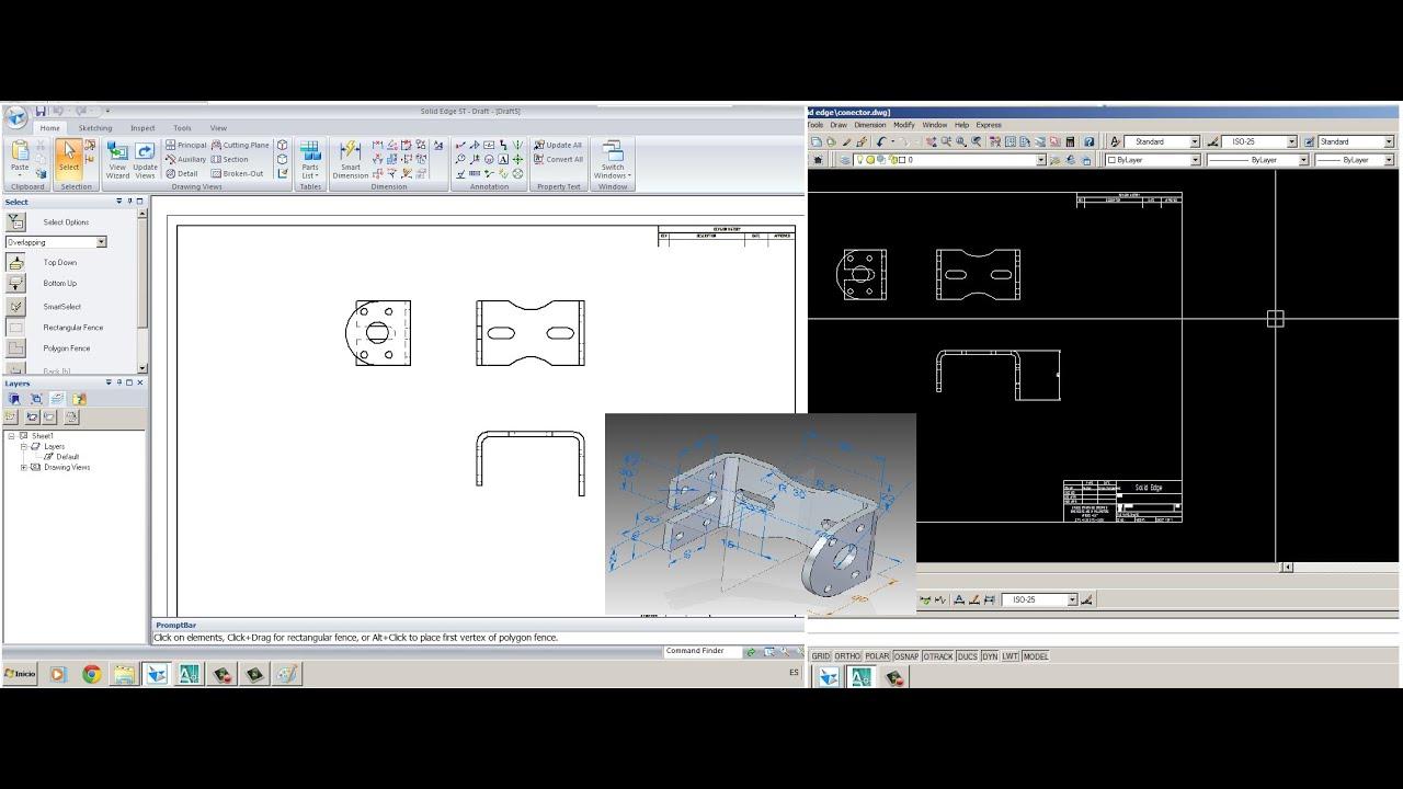 Transferir archivos de solid edge par a autocad dwg for Archivos de cad